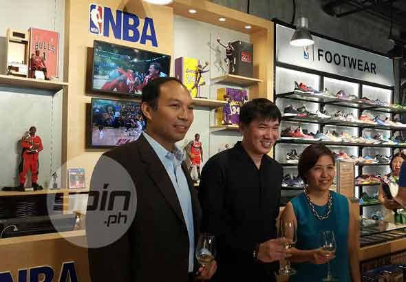 (From L-R) NBA Philippines Managing Director Carlos Singson,IATC President Melvin Lim and NBA Store Trinoma Branch Manager Maan Paras
