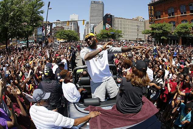 Cleveland honors its heroes. Scenes from the Cavaliers victory parade. SEE PHOTOS
