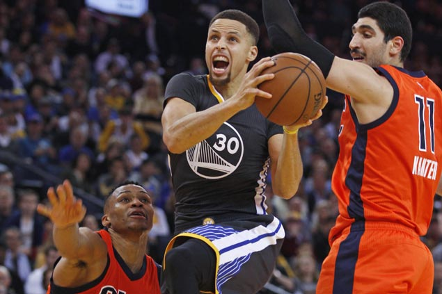 Stephen Curry starts for Warriors vs. OKC; Andre Iguodala available