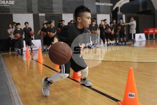 Seven-year old internet sensation Dominic Tuason shows off his ball-handling skills