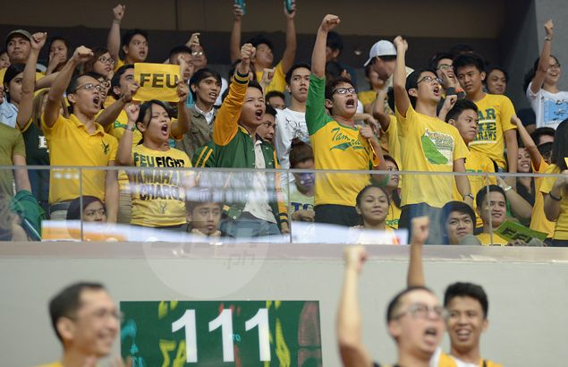 FEU fans, waiting for a first UAAP championship in nine years, see the