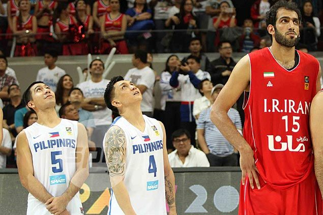 LA Tenorio's height and how he and Jimmy Alapag would look next to Hamed Haddadi.