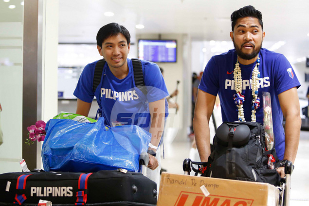 Gilas stalwarts Jeff Chan and Ranidel de Ocampo glad to be back home after a three-week Euro training