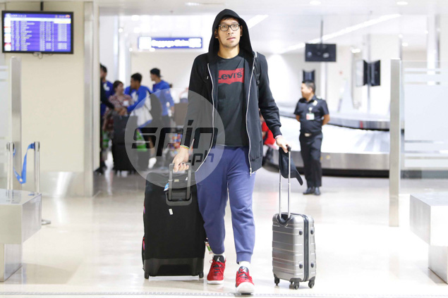 June Mar Fajardo emerges in his black hoodie