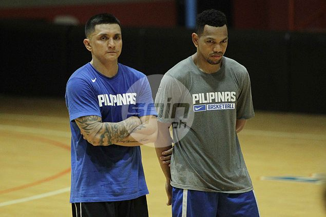 Jimmy Alapag and Jayson Castro reunite in Gilas practice. Jerome Ascano