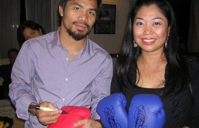 Perfect timing as fan auctions off autographed Pacquiao gloves for typhoon  survivors