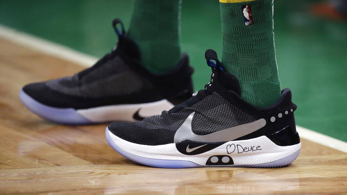 2add35a2667 Tatum takes revolutionary Nike Adapt BB for a spin as Celtics rip Raptors