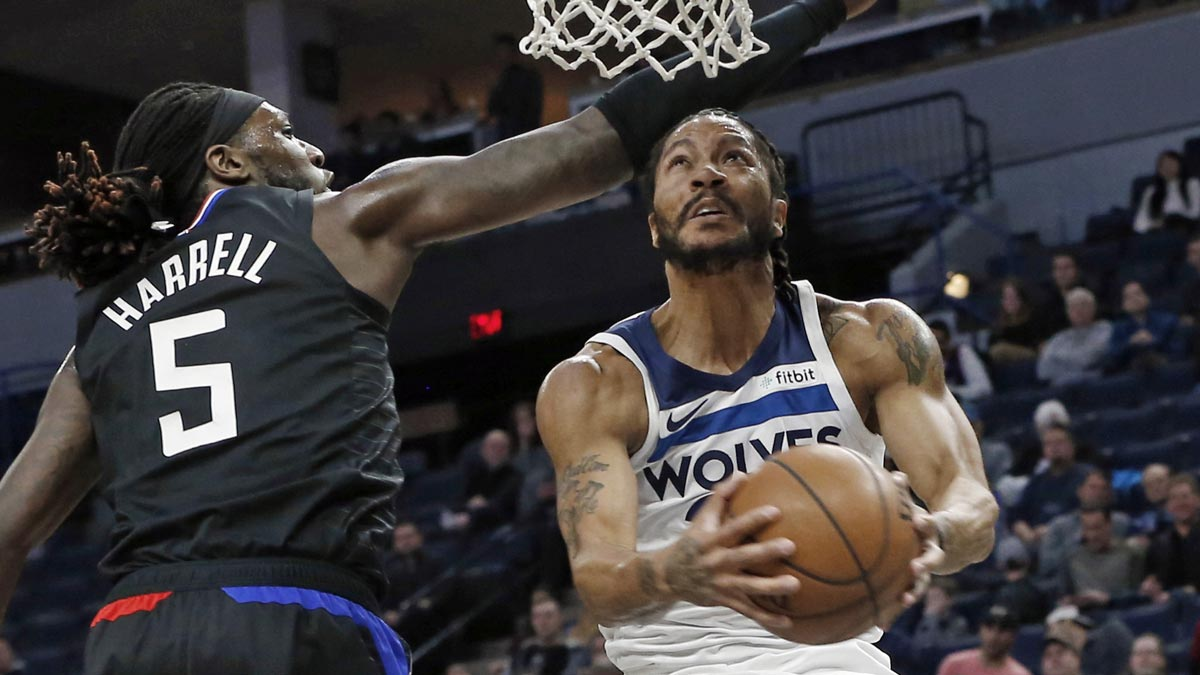 45ec6f292ee5 Derrick Rose stars as Wolves down Clippers and spoil Lou Williams  45-point  night