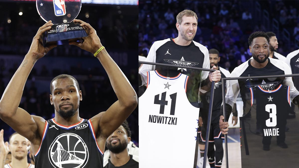 43f0baec482 Kevin Durant adds to the All Star MVP he won in 2012 in Orlando