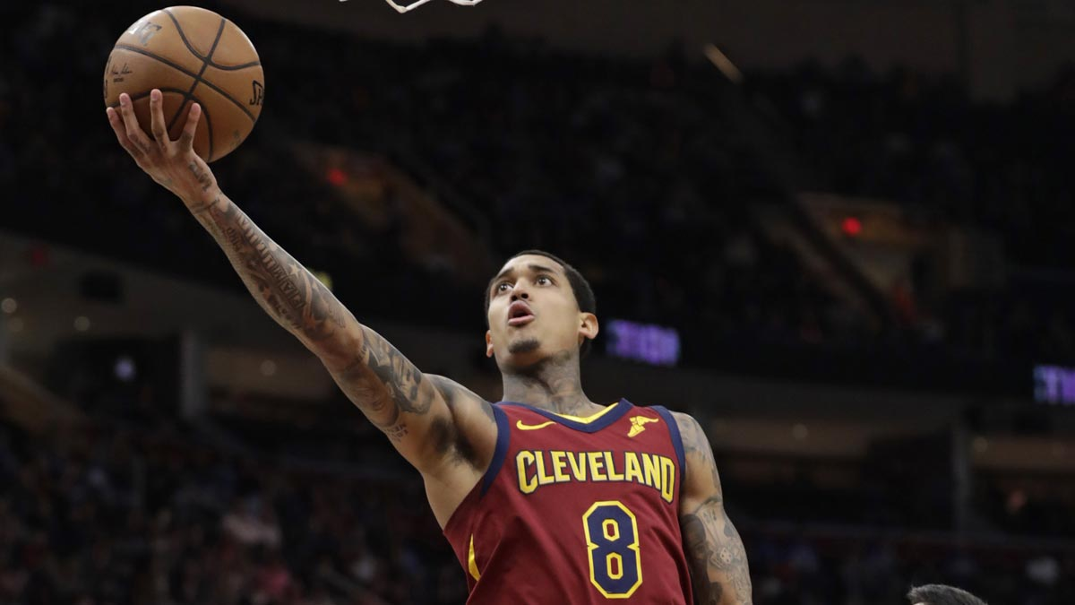 hot sale online c88bb d0f56 Jordan Clarkson shines as Cavs stall Bucks  march to Central Division title