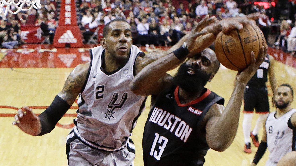 a7c543ba92dd James Harden matches career-high 61 points as Rockets edge Spurs