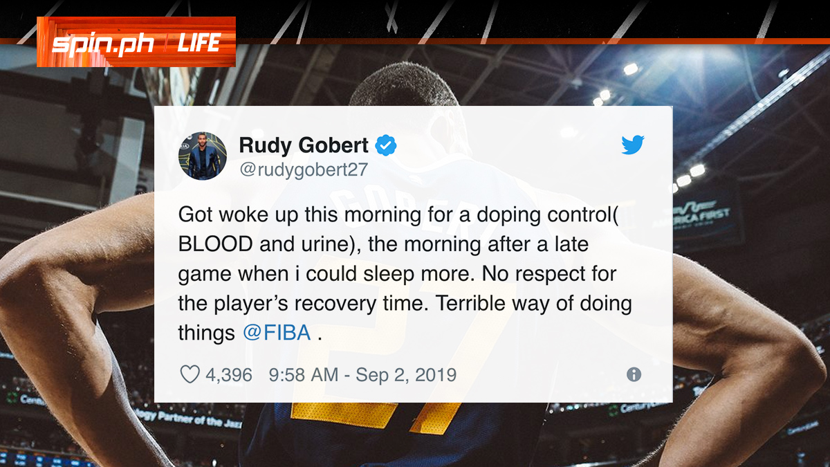 Rudy Gobert Fiba drug test