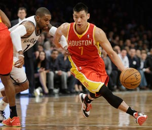 Jeremy Lin, the Asian-American of Taiwanese descent who took the NBA by storm with the New York Knicks last season, will now lead the Houston Rockets in a match against the Indiana Pacers at MOA Arena. AP