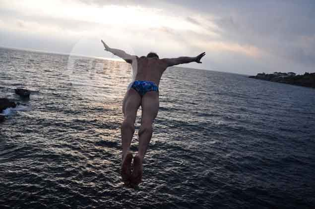 German first timer on a high after ruling punta fuego and rider cliff diving challenge - Highest cliff dive ...