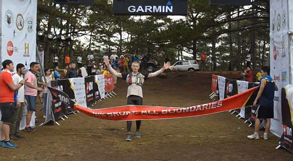 Jan Nilsen was the 1st 100km runner who crossed the finish line in last weekend's TNF100 in Baguio City