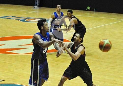 Jay Washington played well enough against the Dragons to impress Gilas coach Chot Reyes. Photo by Dante Peralta