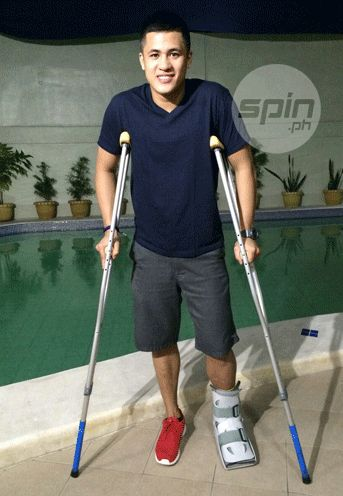 Rain or Shine rookie Jericho Cruz won't be able to return until March. Photo from Snow Badua