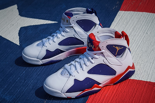 744031dd5cd 'Olympic Alternate' Jordan 7 shoes which MJ never wore in Barcelona Games  makes retro release