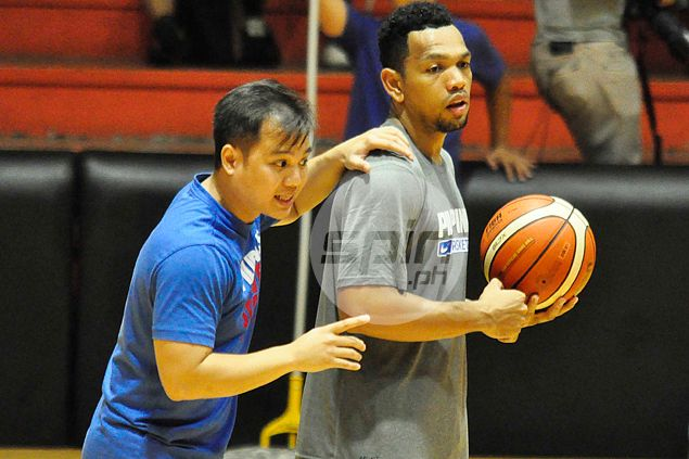 It's Josh Reyes' job to familiarize the Gilas players to Baldwin's system. Dante Peralta