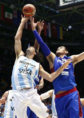 June Mar Fajardo more than held his own against Luis Scola and Co. Photo from Fiba.com