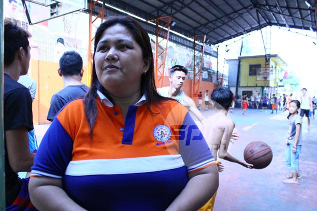 Kagawad Lorna Yu says Tondo folk take pride in their basketball. Bernadette Rivera