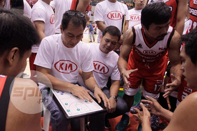 Manny Pacquiao left the coaching chores to assistant Glen Capacio but put in his inputs every now and then. Jerome Ascano