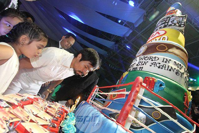 Manny Pacquiao Birthday Cake