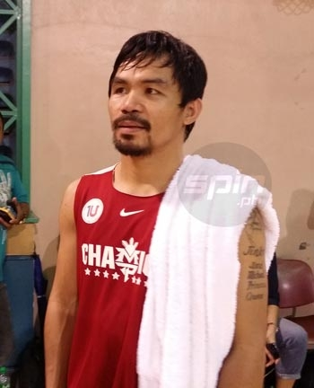 Manny Pacquiao says renumeration is the least of his concerns as he takes on the player-coach job with Kia Motors in the PBA. Photo by Snow Badua