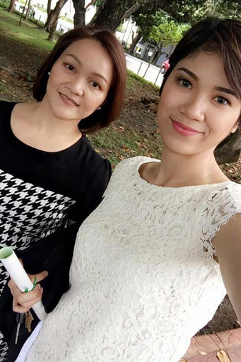 Mika Reyes with her mother, Bhaby. Photo from Mika Reyes