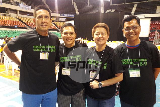 Nepomuceno with Biboy Rivera, Jojo Canare and Rey Reyes.
