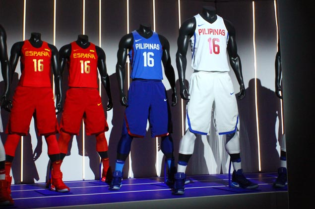 Gilas Pilipinas' new jerseys were unveiled during the Nike Innovation Summit