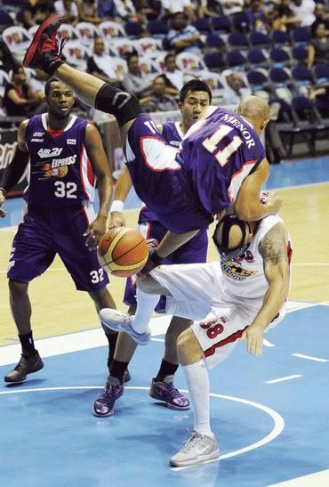 Ogie Menor has figured in a couple of ugly skirmishes in his PBA career. Nuki Sabio/ PBA Images