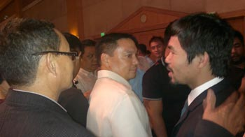 Nonito Donaire Sr. and Manny Pacquiao. Photo by Snow Badua