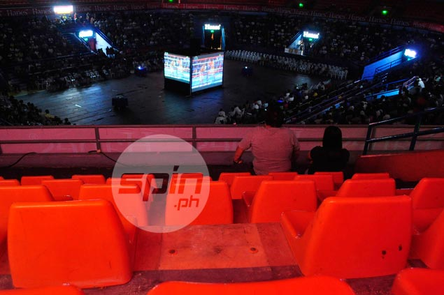 Empty seats inside the San Juan Arena. Dante Peralta