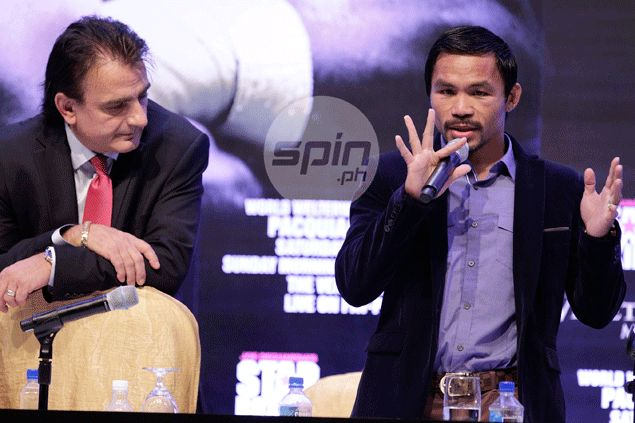 Michael Koncz, left, once served as Manny Pacquiao's point man in direct negotiations with Floyd Mayweather. Jerome Ascano