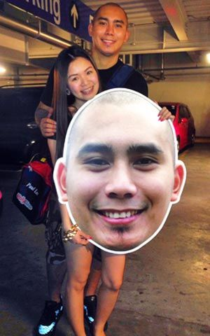 Paul Lee with girlfriend Rubie Chua. Snow Badua