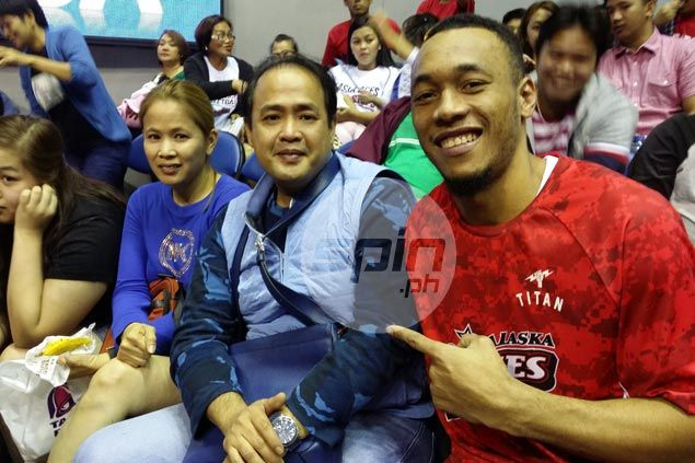 Abueva with longtime patron Dennis Pineda and wife Yolly. Snow Badua