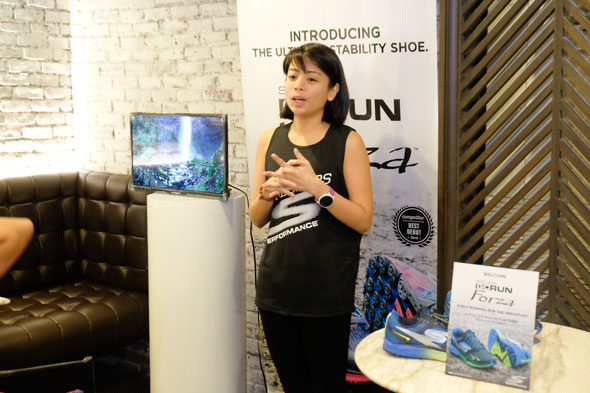 Precy Santos, Skechers Performance Brand Manager, talks about the GoRun Forza after the short run