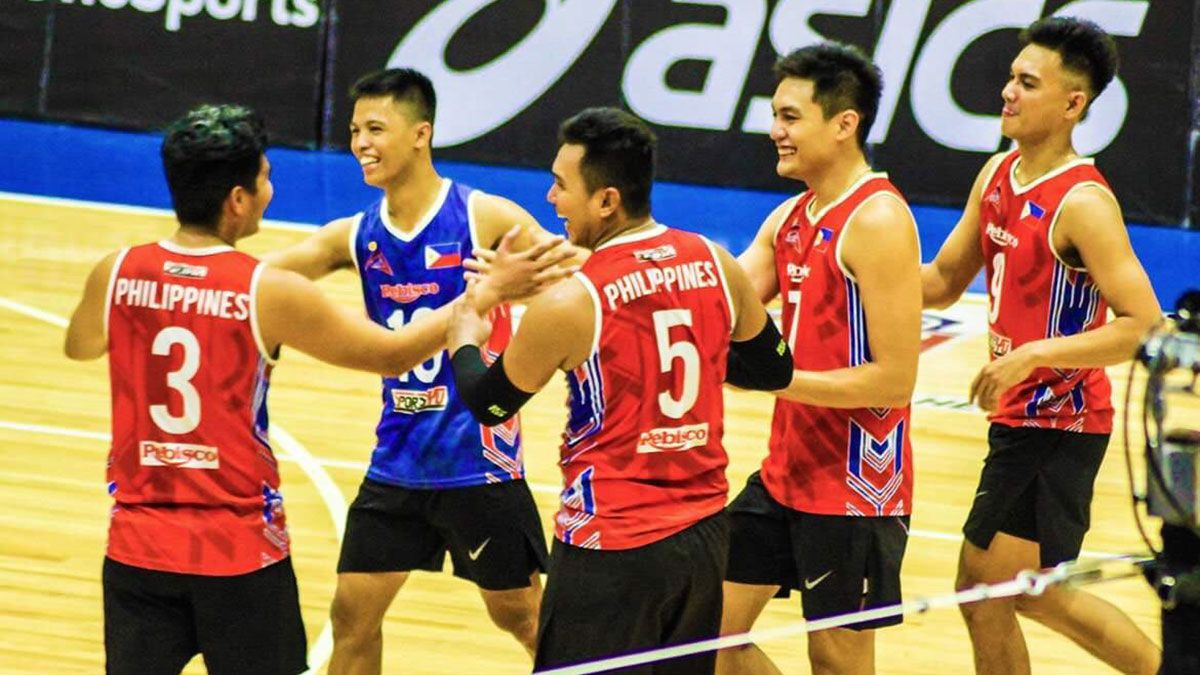 Philippine Men S Volleyball Team Beats Animo In 2019 Spikers Turf Reinforced Conference Behind Fauzi Ismail