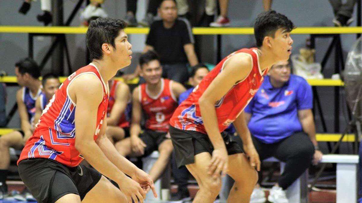 Marck Espejo Bryan Bagunas Banner 14 Man Ph Volleyball Team To Sea Games