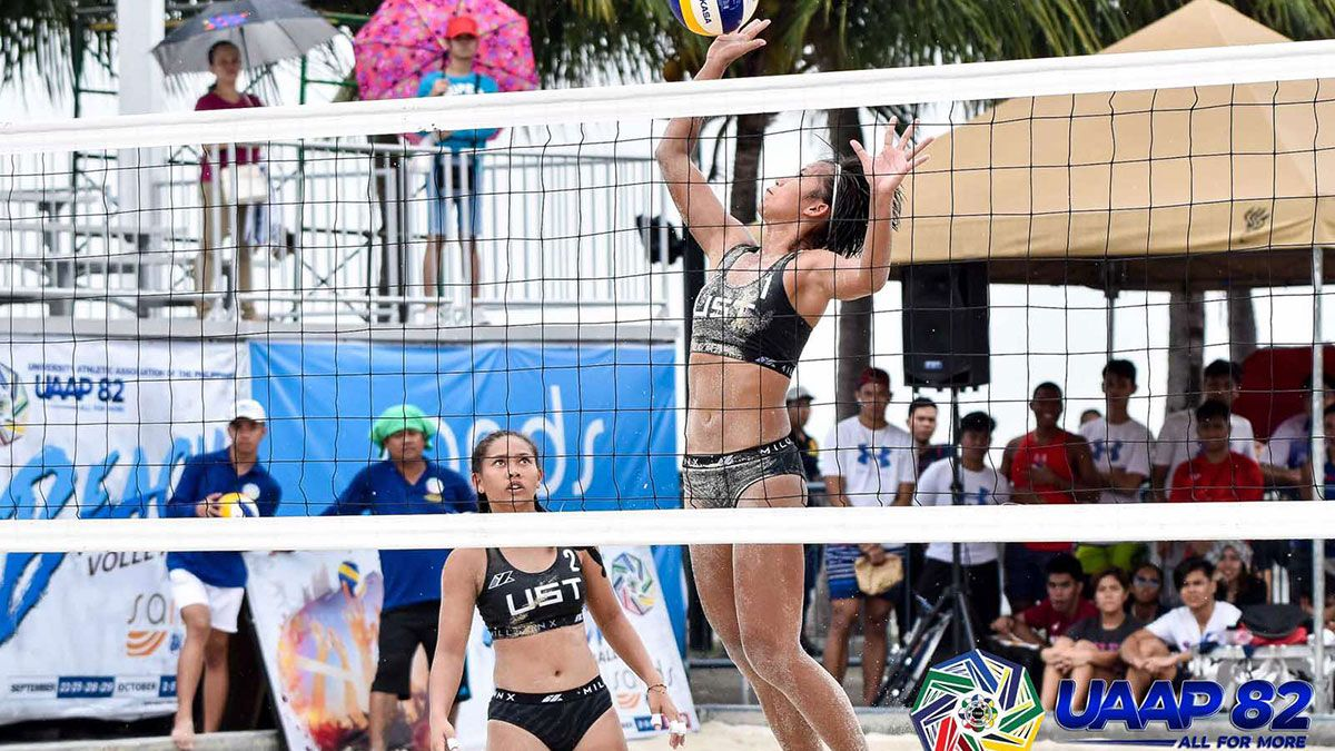 Uaap Women S Beach Volley Games Postponed Due To Thunderstorms