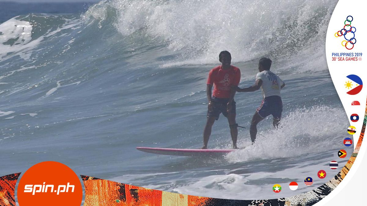 Pinoy surfer Roger Casugay gives up lead to rescue Indonesian rival