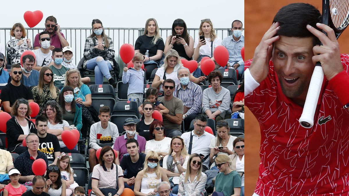 Novak Djokovic Defends Packed Stands At Tennis Charity Tour Event
