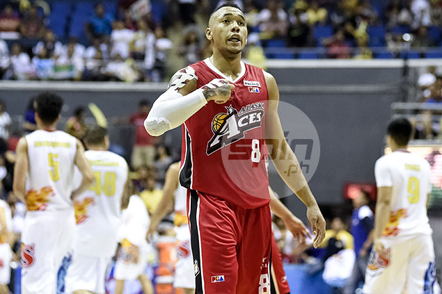 Calvin Abueva was an intimidating force all game long for Alaska.