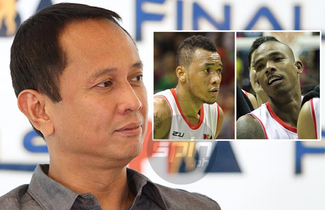 Moonlighting Abueva, Espinas escape penalty, warned not make same mistake again