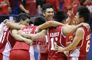 """""""It was a blessing for us six players because we didn't expect talaga na manalo dun,"""" says Arthur Dela Cruz. Photo by Jerome Ascano"""