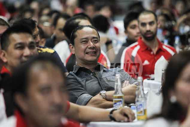 SMB sports director Alfrancis Chua all smiles during the celebration.