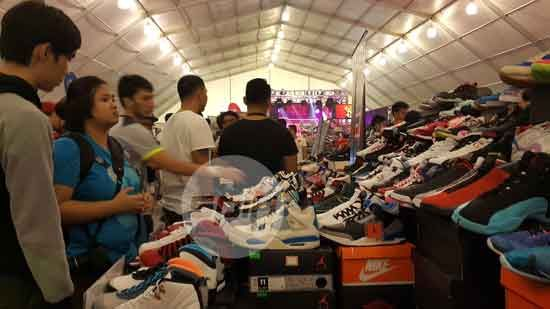 Sneakerheads were like kids in a candy store with the availability of hard to find models and colorways at the World Trade Center