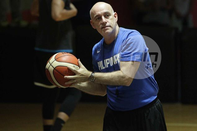 Tab Baldwin speaks before Gilas Pilipinas 3.0 in first practice