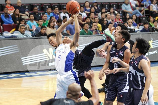 A hard foul by Adamson's Josepn Nalos on Vince Tolentino sparked the shoving incident. Jerome Ascano